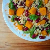 Repas complet et nourrissant d'automne