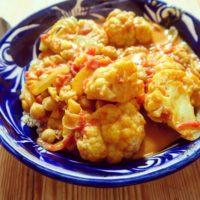 Curry au chou-fleur & lait de coco